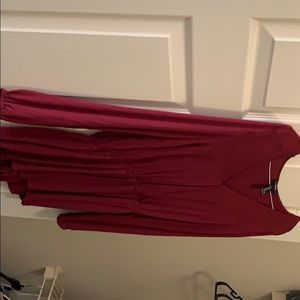 Red romper long sleeve size large